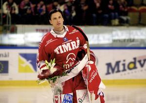 Valeri Krykov i sin sista match i Timråtröjan.
