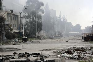Syriska armén och rebeller har hamnat i hårda strider i Damaskus under tisdagen.