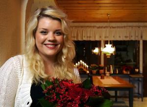Cassandra Sundin när hon valdes till Sundsvalls lucia 2008.