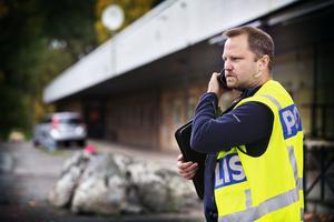Polisinspektör Magnus Nordström, förundersökningsledare på lokalpolisområde Västerås.