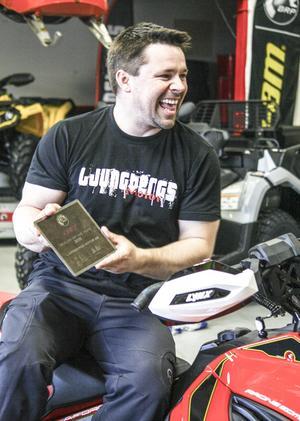 Andreas Ljungberg är en drivande person som förutom företagandet med Ljungbergs Motor även ser till att få tid till och sponsrar engagemang för bygden. Allt inom motorsport ligger honom varmt om hjärtat.
