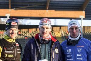 Jens Eroiksson, Teodor Peterson och Simon Persson tog hand om söndagens sprintmedaljer i SM.