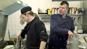 Martin Larsson och Stefan Grobecker på Värdshuset Engelbrekt.