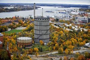Blir kulturscen. Bobergs gasklocka i Värtahamnen, Stockholm.Foto: Bertil Ericson/ Scanpix