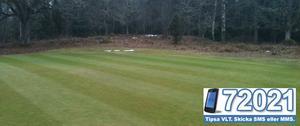 Ängsö golfklubb redo för spel. FOTO: LÄSARBILD/JOHAN WIDELL (headgreenkeeper)