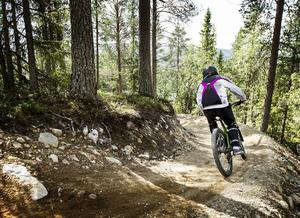 Fint underlag ger en skön cykelupplevelse.