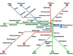 Så skulle Leksands Tunnelbanesystem kunna se ut.