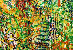 Kåre Henriksson berättar att han kan arbeta tio år på en och samma målning innan den är klar