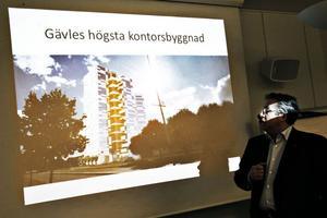 – Vårt uppdrag är att fylla huset med människor som vill träffas och göra affärer i Gävle, säger mäklare Jan Hedvall på Fastighetsbyrån.