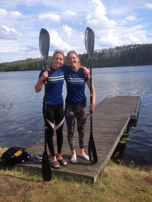 Duon Evelina Höglund och Johanna Kühne kammade hem ett silver tillsammans.