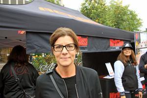 Pernilla Avelin hade åkt till city för att shoppa höstkläder och titta på Action Run.