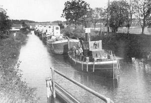 Den ångande bogserbåten Rex på en bild från 1948.