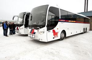 De nya bussarna ersätter tågen i Västerdalarna.