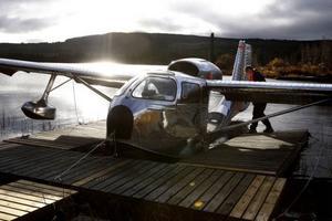 Mats Rönning gör sitt plan klart för årets sista tur innan det är dags att ta upp kärran inför vintern.