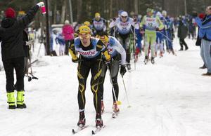 starkast. Erik Wickström, Ulricehamn, var i täten i Engelbrektsloppet.  Han avgjorde i slutspurten. Foto: Jörgen Hjerpe