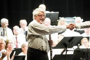 Sölve Kingstedt med rötter i Söderhamn spelade solo på sin klarinett.