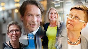 Kerstin Lundgren (C), Mats Pertoft (MP), Catharina Elmsäter-Svärd (M) och Ingela Nylund-Watz (S).