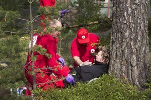 Röda Korset övar på ett så naturtroget sätt som möjligt