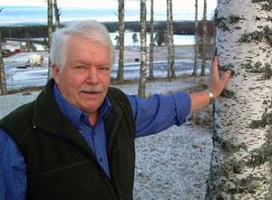 Ove Mohlin, Borgvattnet, ordförande i Förenade Vindbyar, hoppas att vindkraftparken ska ge nytt liv åt bygden.