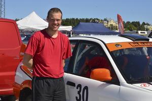 Thomas Bergman var en av förarna som körde rallysprinten.