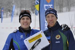 Erik Blomgren, till vänster, vann guldet i herrarnas seniorklass. Erik Rost var tvåa.