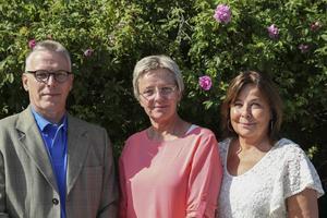 Esa Puolakanaho, Ann-Christine Persson och Karin Velander som arbetar på Beroendecentrum i Bollnäs.