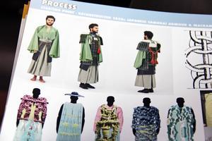 Som examensarbete i gymnasiet i Sandviken valde Per Hansson att göra en kollektion – olika samurajrustningar i makramé.