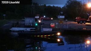 Bild från småbåtshamnen tagen runt 23:30