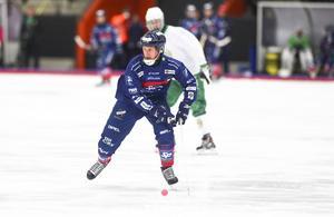Fredrik Åström under en försäsongsmatch mot Hammarby.