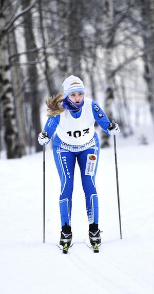 Lovisa Lind från HIF var en av tre startande i D 15-klassen.