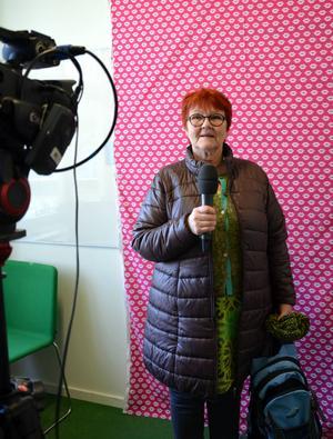 Disa Svedberg passade på att spela in en videohälsning till Alla Hjärtans Dag