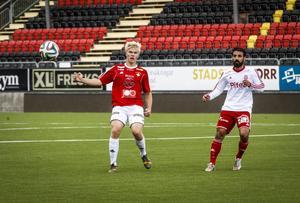 John Eriksson, född 1997, fick kliva av på grund av skada den här gången.