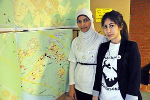Shaymaa Alaw och Selma Tuncer ingår i Östersunds ungdomsråd. De fick med sig många ungdomar på fredagens