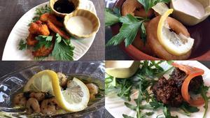 Pakora, calamares romana, gambas al ajillo och shami kebab. Det går att äta sig mätt på tapas och indiska smårätter på Om Shanti.