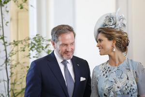 Chris O'Neil tillsammans med prinsessan Madeleine.