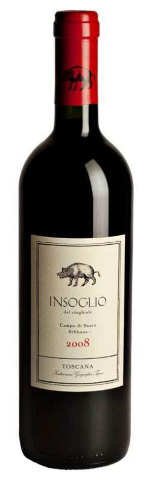 Udda toscanavin. I Toscana görs inte bara Chianti-viner på sangiovesedruvan. Till Insoglio del Cinghiale har enbart franska druvsorter använts med utmärkt resultat.