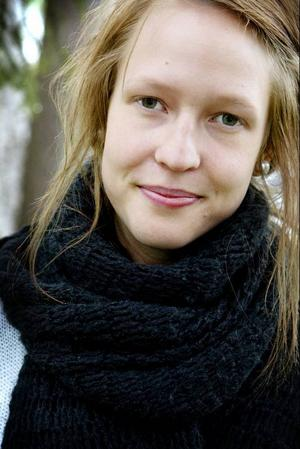 Frida Landén, tredjepristagare i lyrikklassen.