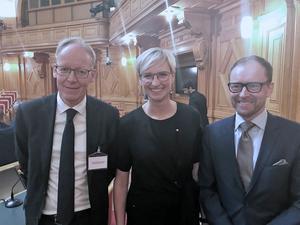 Johan Söderström, vd för ABB Sverige, Åsa Eriksson (S), riksdagsledamot och Johan Waller, Centigo, deltog under Sveriges kompetensriksdag.