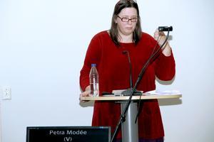 Petra Modées och V:s skuggbudget lovordades, men fick inget större gehör.