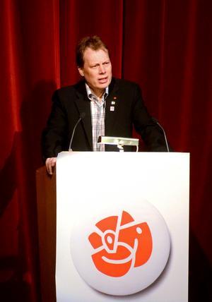 Abbe Ronsten talar på 1 maj 2013.