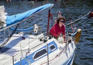 Maria Wålsten har blivit en passionerad seglare.