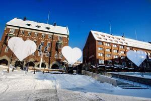 På fyra hjärtformade bildskärmar ska bilder, mönster och rörelse projiceras.Foto: Ulrika Andersson