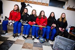 Sex av VM-tjejerna från Järna. Från vänster: Olivia Hörvallius, Jolin Karlström, Jennifer Peterback, Elin Witick, My Nilsson och Madelene Poltén.
