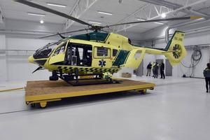 Länets ambulanshelikopter är stationerad i Mora.