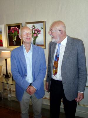 Första verkliga mötet mellan ALMA-pristagare Kuijer (tv) och hans översättare Boerje Bohlin, ägde rum i förra veckan.