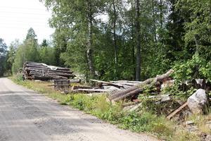 Här ska den nya byggvaruhandeln ligga, ett stenkast från HansOlovs och Monicas hus på Kalvmarsvägen.