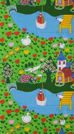 """Tyget """"Södra Strömgatan"""" av Ann-Marie Netterdag."""