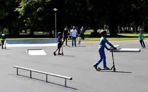 Den nya skateparken i Borlänge lockar redan åkare.