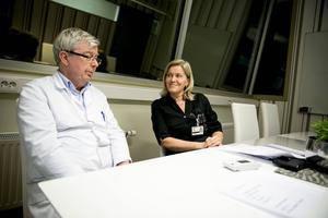 Jan Castenhag och Åsa Carlsson är glada över att vara i gång med testningen som kan förebygga stroke.