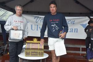 Tor Jacobson (till höger) stod återigen för ett starkt lopp och är storfavorit inför avslutande dagen.